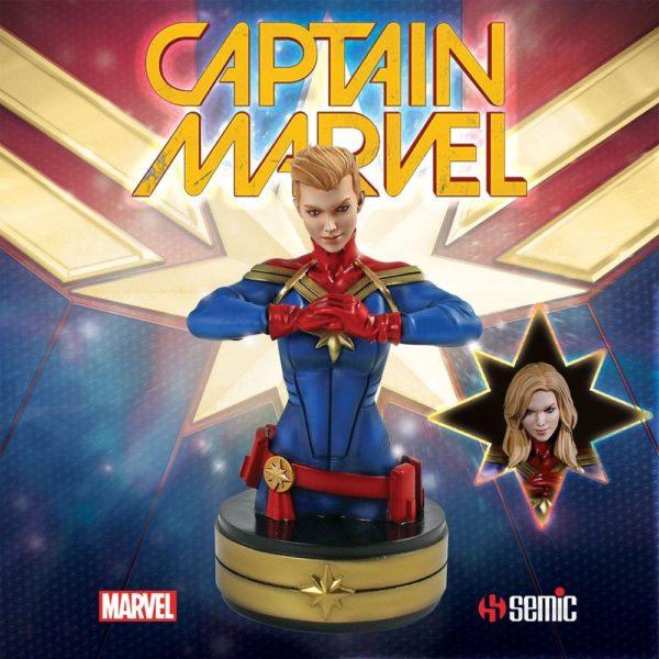 CAPTAIN MARVEL BUSTE MARVEL SEMIC 20 CM (1bis) 3760226377009 kingdom-figurine.fr