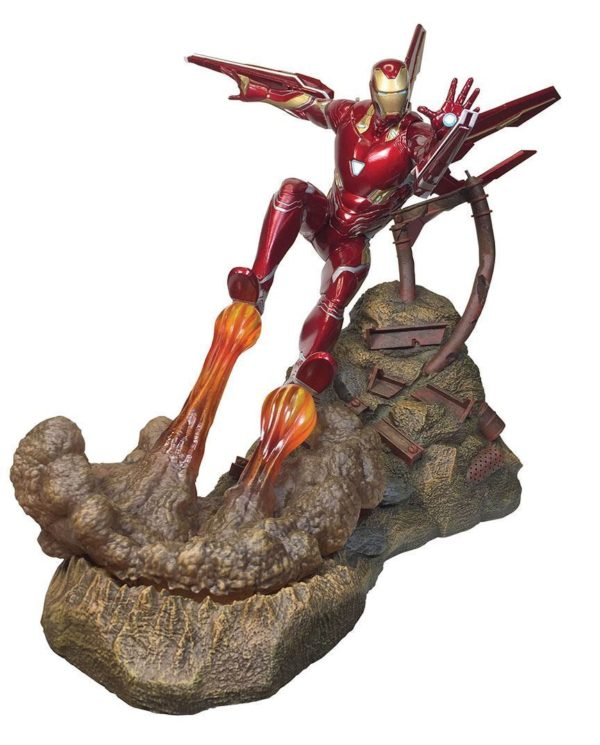 IRON MAN MK50 STATUETTE AVENGERS INFINTY WAR MARVEL PREMIER COLLECTION DIAMOND SELECT TOYS 30 CM (1bis) 699788828588 kingdom-figurine.fr