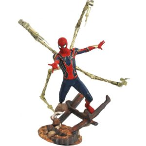 IRON SPIDER-MAN STATUE AVENGERS INFINITY WAR MARVEL PREMIER COLLECTION DIAMOND SELECT TOYS 30 CM (1) 699788828595 kingdom-figurine.fr