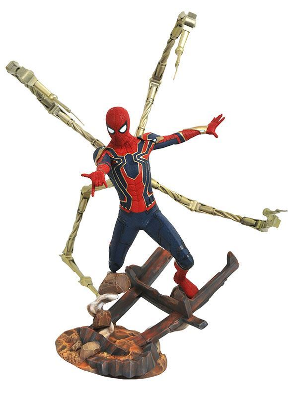 IRON SPIDER-MAN STATUE AVENGERS INFINITY WAR MARVEL PREMIER COLLECTION DIAMOND SELECT TOYS 30 CM (1bis) 699788828595 kingdom-figurine.fr