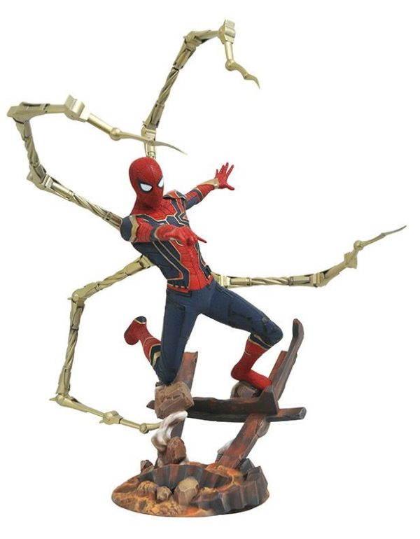 IRON SPIDER-MAN STATUE AVENGERS INFINITY WAR MARVEL PREMIER COLLECTION DIAMOND SELECT TOYS 30 CM (2) 699788828595 kingdom-figurine.fr