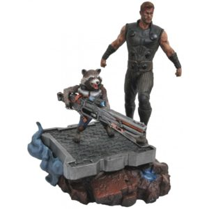 THOR & ROCKET RACCOON STATUETTE AVENGERS INFINITY WAR MARVEL PREMIER COLLECTION DIAMOND SELECT TOYS 30 CM (1) 699788828564 kingdom-figurine.fr