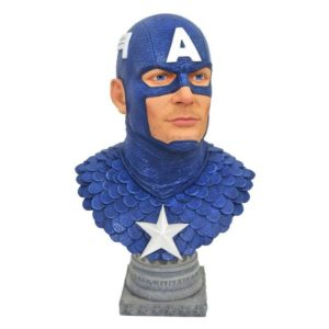 CAPTAIN AMERICA BUSTE 1-2 MARVEL COMICS LEGENDS IN 3D DIAMOND SELECT TOYS 25 CM (1) 699788831168 kingdom-figurine.fr