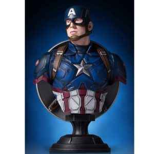 CAPTAIN AMERICA BUSTE 1-6 CIVIL WAR GENTLE GIANT 18 CM 814176021284 kingdom-figurine.fr
