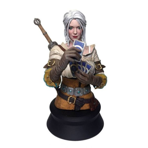 CIRI PLAYING GWENT BUSTE WITCHER 3 WILD HUNT DARK HORSE 20 CM (1) 761568002942 kingdom-figurine.fr
