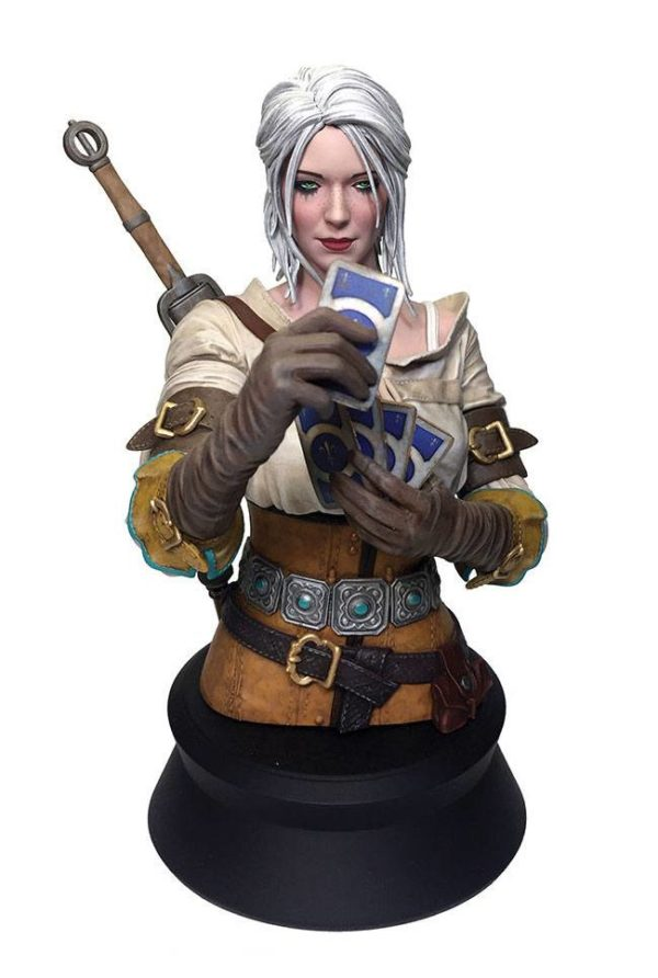 CIRI PLAYING GWENT BUSTE WITCHER 3 WILD HUNT DARK HORSE 20 CM (1bis) 761568002942 kingdom-figurine.fr
