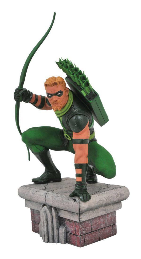 GREEN ARROW STATUETTE DC COMICS GALLERY DIAMOND SELECT TOYS 20 CM (1bis) 699788828915 kingdom-figurine.fr
