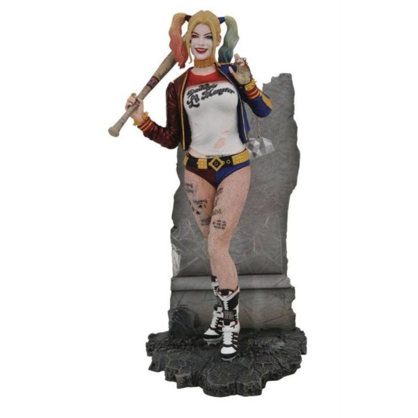 HARLEY QUINN STATUETTE SUICIDE SQUAD DC MOVIE GALLEY DIAMOND SELECT TOYS 20 CM (1) 699788834510 kingdom-figurine.fr