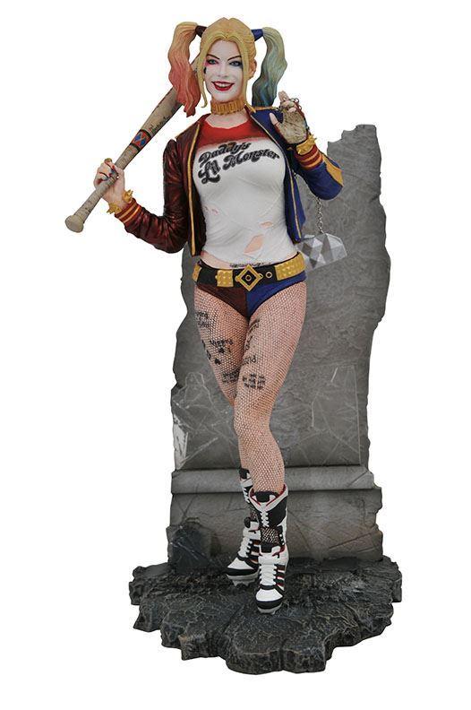 HARLEY QUINN STATUETTE SUICIDE SQUAD DC MOVIE GALLEY DIAMOND SELECT TOYS 20 CM (1bis) 699788834510 kingdom-figurine.fr