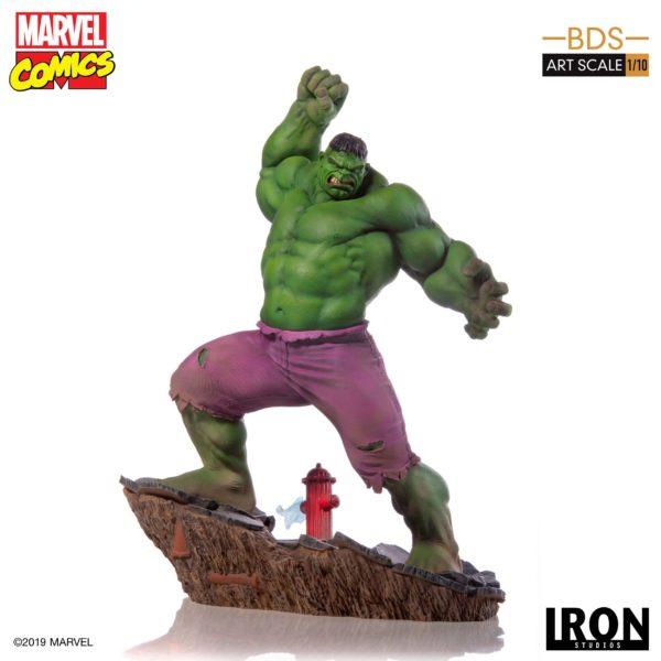 HULK STATUETTE 1-10 MARVEL COMICS BDS ART SCALE IRON STUDIOS 29 CM (1bis) 606529302917 kingdom-figurine.fr
