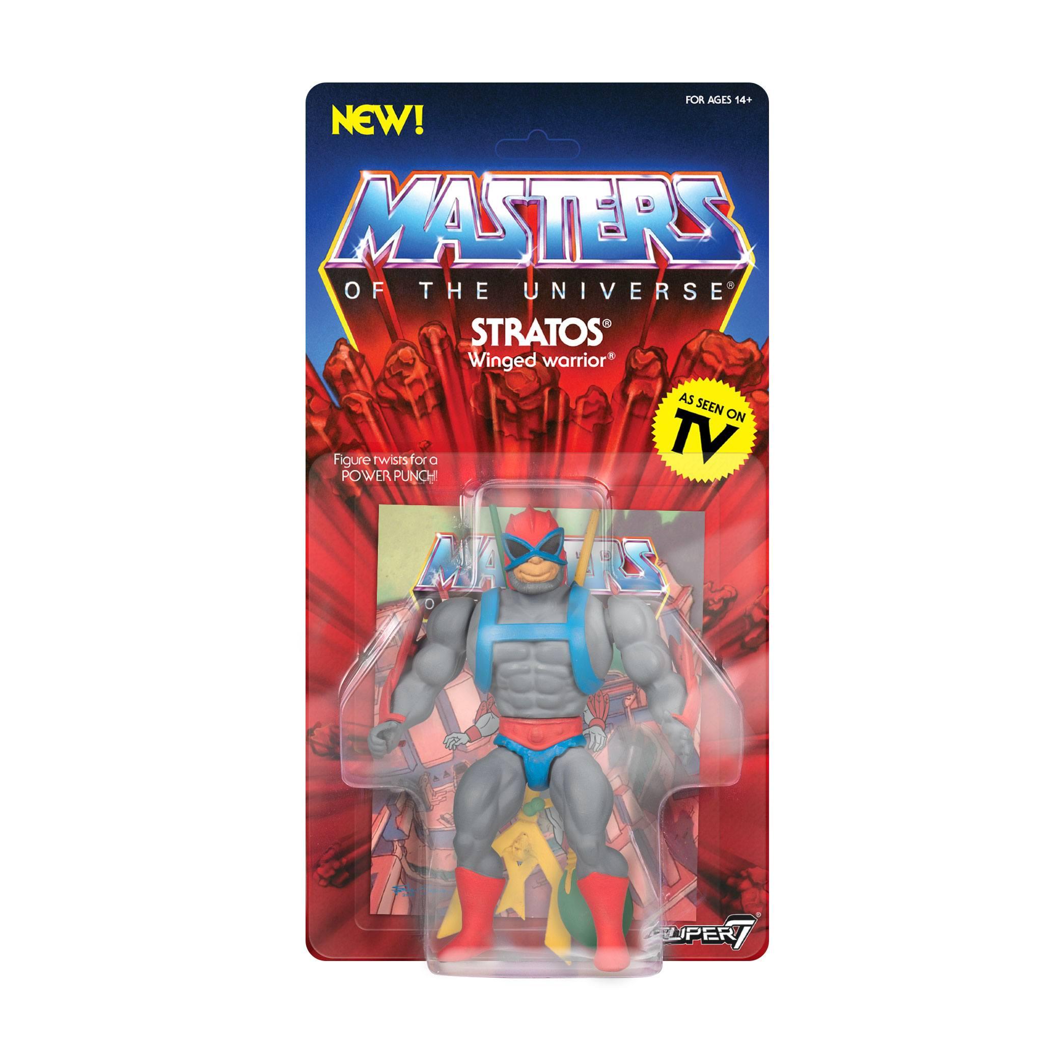 "Comme neuf on card Super 7 5.5/"" Stratos Masters of the Universe vintage Maîtres de l/'univers animé Style"