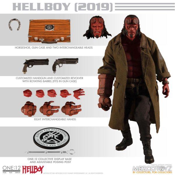 HELLBOY FIGURINE HELLBOY 2019 ONE 12 MEZCO TOYS 17 CM (2) 696198775402 kingdom-figurine.fr