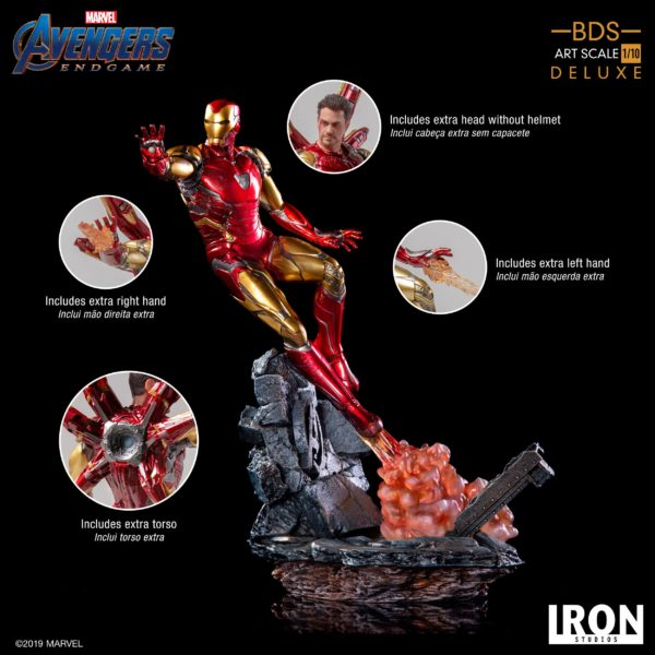 IRON MAN MARK LXXXV STATUE DELUXE 1-10 AVENGERS ENDGAME BDS ART SCALE IRON STUDIOS 29 CM (3) 606529899530 kingdom-figurine.fr
