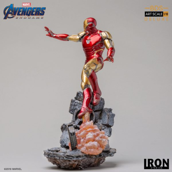 IRON MAN MARK LXXXV STATUE DELUXE 1-10 AVENGERS ENDGAME BDS ART SCALE IRON STUDIOS 29 CM (5) 606529899530 kingdom-figurine.fr