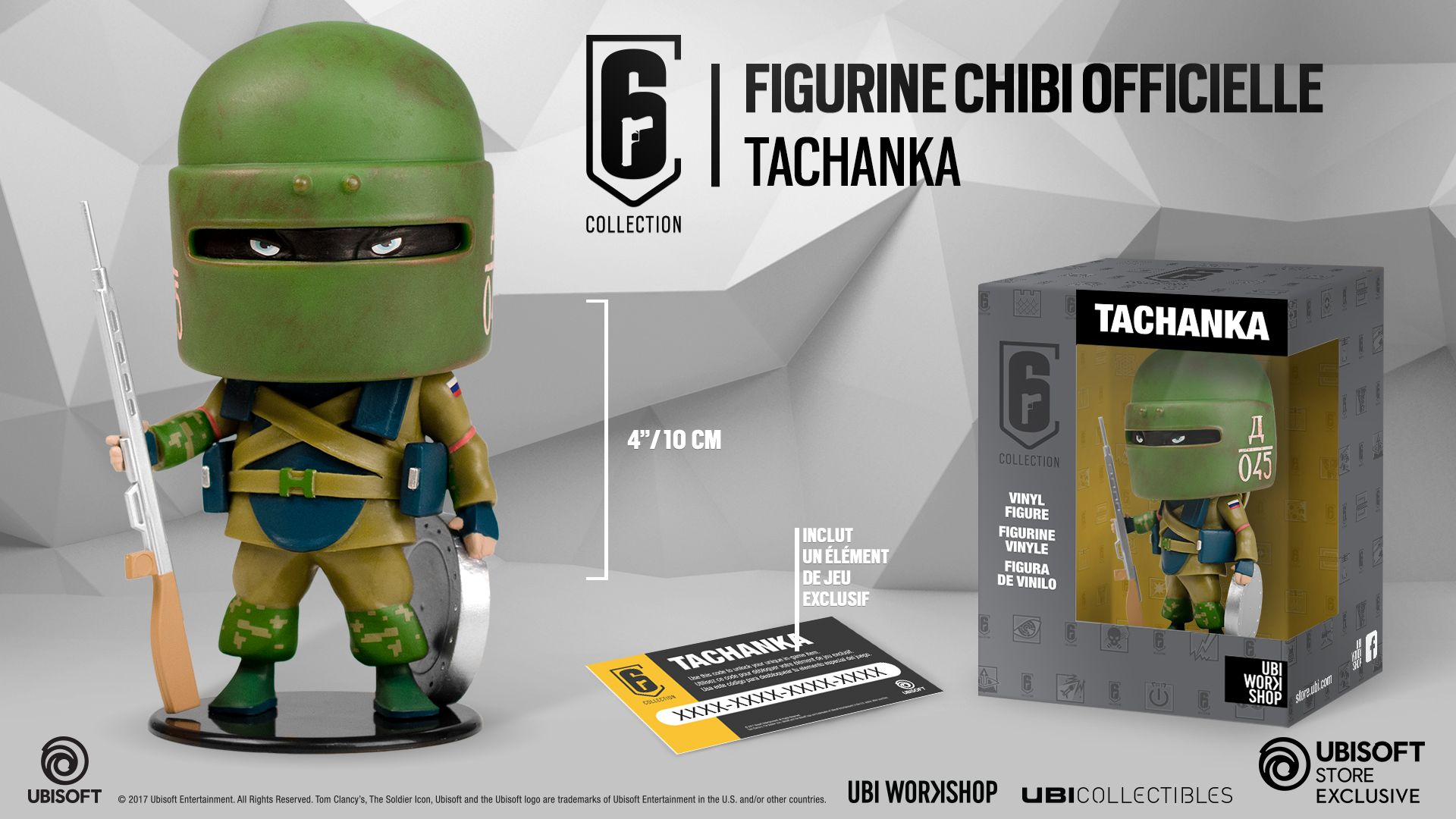 TACHANKA FIGURINE CHIBI SIX COLLECTION SERIE 1 UBI-COLLECTIBLES | Kingdom  Figurine