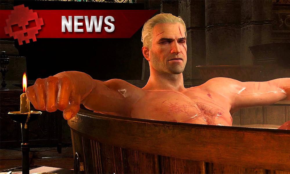 Geralt in the bath