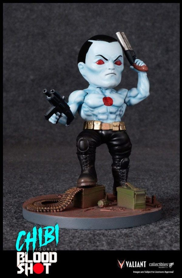 BLOODSHOT FIGURINE CHIBI VALIANT COMICS SILVER FOX COLLECTIBLES 10 CM (2) 747720198882 kingdom-figurine.fr
