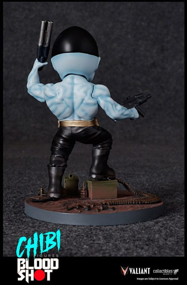 BLOODSHOT FIGURINE CHIBI VALIANT COMICS SILVER FOX COLLECTIBLES 10 CM (6) 747720198882 kingdom-figurine.fr