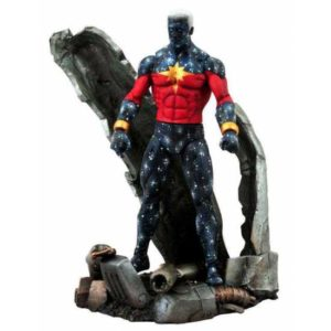 CAPTAIN MARVEL (GENIS-VELL) FIGURINE MARVEL SELECT DIAMOND SELECT 18 CM 699788108345G kingdom-figurine.fr