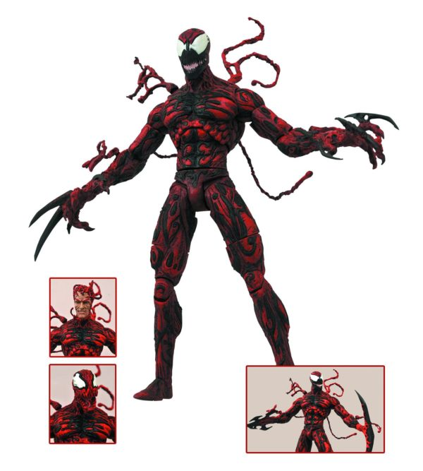 CARNAGE FIGURINE MARVEL SELECT DIAMOND SELECT TOYS 20 CM (2) 699788180082 kingdom-figurine.fr