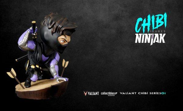 NINJAK FIGURINE CHIBI VALIANT COMICS SILVER FOX COLLECTIBLES 9 CM (12) 747720198883 kingdom-figurine.fr