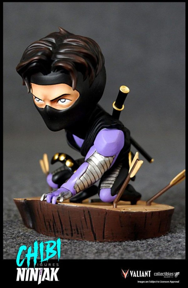 NINJAK FIGURINE CHIBI VALIANT COMICS SILVER FOX COLLECTIBLES 9 CM (3) 747720198883 kingdom-figurine.fr