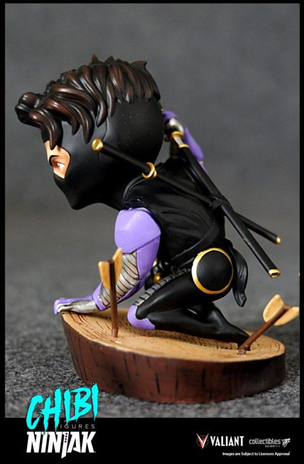 NINJAK FIGURINE CHIBI VALIANT COMICS SILVER FOX COLLECTIBLES 9 CM (4) 747720198883 kingdom-figurine.fr