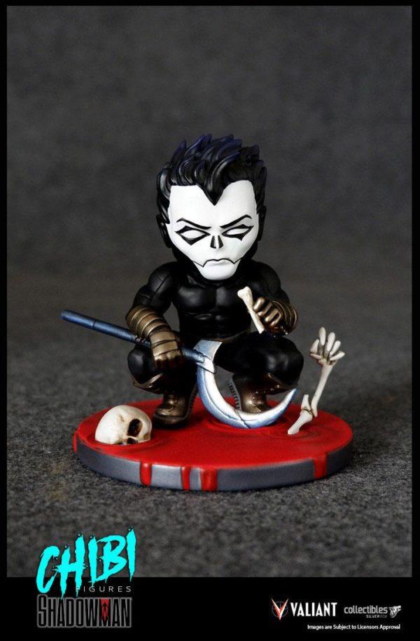 SHADOWMAN FIGURINE CHIBI VALIANT COMICS SERIE 01 SILVER FOX COLLECTIBLES 9 CM (2) SFCSBSC1004 kingdom-figurine.fr