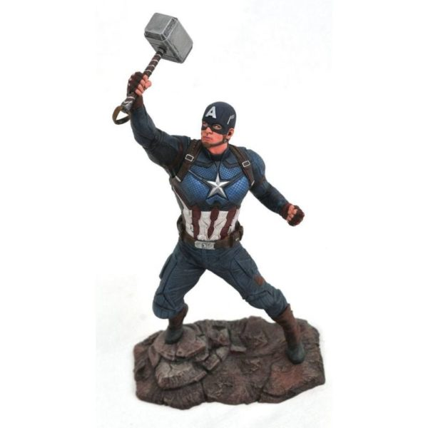 CAPTAIN AMERICA STATUETTE AVENGERS ENDGAME MARVEL MOVIE GALLERY DIAMOND SELECT TOYS 23 CM 699788832929 kingdom-figurine.fr