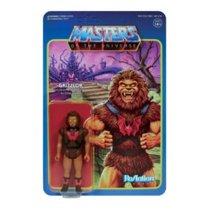 GRIZZLOR FIGURINE MASTERS OF THE UNIVERSE WAVE 5 RE-ACTION SUPER7 10 CM 811169037550 kingdom-figurine.fr
