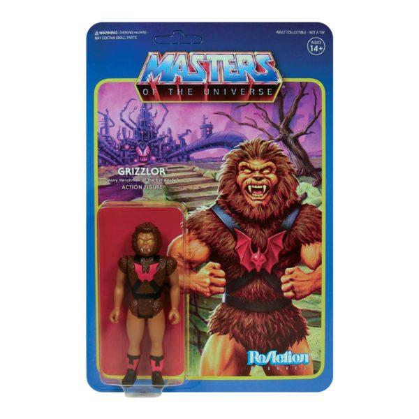 GRIZZLOR FIGURINE MASTERS OF THE UNIVERSE WAVE 5 RE-ACTION SUPER7 10 CM 811169037550 kingdom-figurine.fr