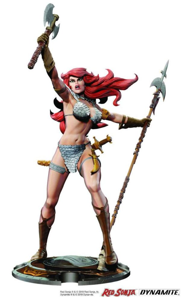 RED SONJA STATUETTE 45TH ANNIVERSARY BY FRANK THORNE DYNAMITE ENTERTAINMENT (1) 725130283924 kingdom-figurine.fr