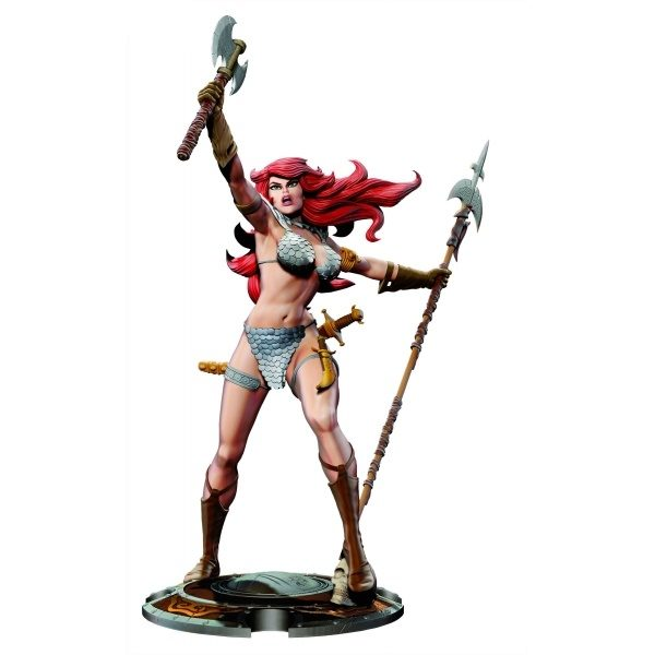 RED SONJA STATUETTE 45TH ANNIVERSARY BY FRANK THORNE DYNAMITE ENTERTAINMENT 725130283924 kingdom-figurine.fr