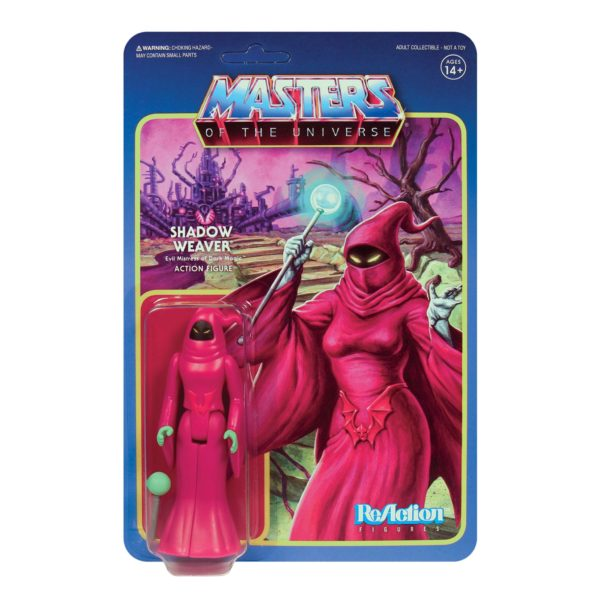 SHADOW WEAVER FIGURINE MASTERS OF THE UNIVERSE WAVE 5 RE-ACTION SUPER7 811169037567 kingdom-figurine.fr