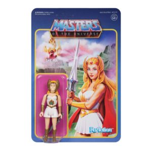 SHE-RA FIGURINE MASTERS OF THE UNIVERSE WAVE 5 RE-ACTION SUPER7 811169037529 kingdom-figurine.fr