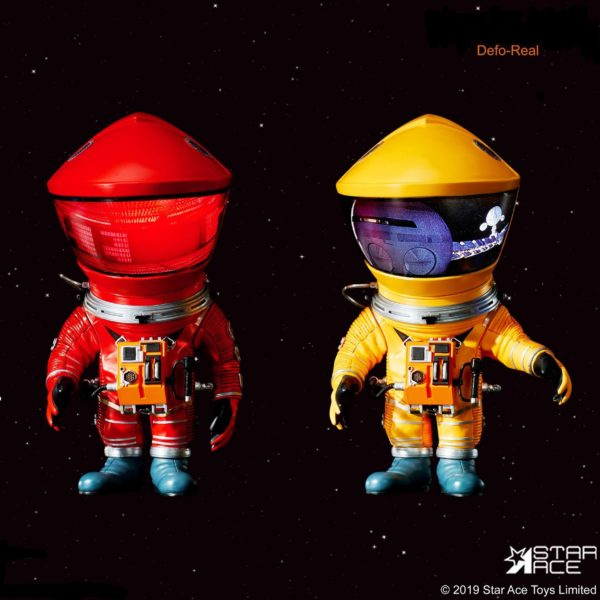 2001 L'ODYSSÉE DE L'ESPACE PACK 2 FIGURINES ARTIST DEFO-REAL SERIES DF ASTRONAUT RED & YELLOW VERSION 15 CM (0) 4897057886154 kingdom-figurine.fr
