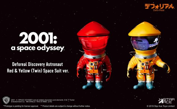 2001 L'ODYSSÉE DE L'ESPACE PACK 2 FIGURINES ARTIST DEFO-REAL SERIES DF ASTRONAUT RED & YELLOW VERSION 15 CM (2) 4897057886154 kingdom-figurine.fr
