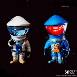 2001 L'ODYSSÉE DE L'ESPACE PACK 2 FIGURINES ARTIST DEFO-REAL SERIES DF ASTRONAUT SILVER & BLUE VERSION 15 CM (0) 4897057886161 kingdom-figurine.fr