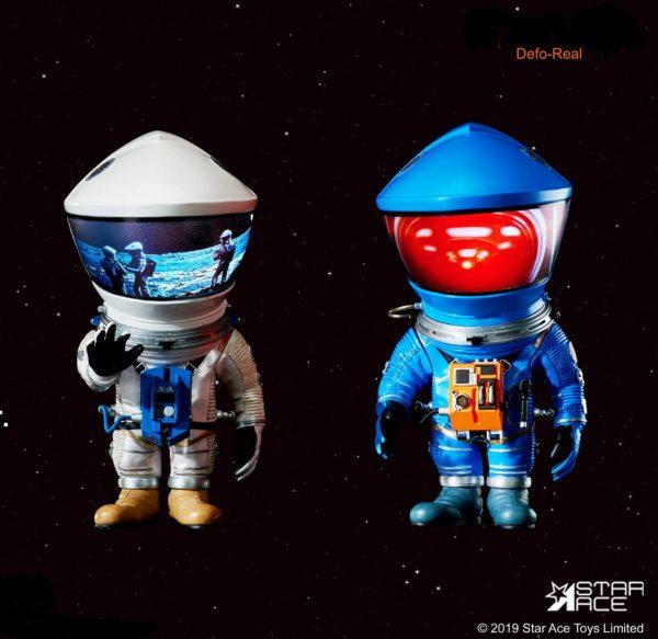 2001 L'ODYSSÉE DE L'ESPACE PACK 2 FIGURINES ARTIST DEFO-REAL SERIES DF ASTRONAUT SILVER & BLUE VERSION 15 CM (0) 4897057886161 kingdom-figurine.fr
