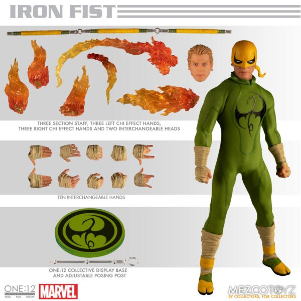 IRON FIST FIGURINE MARVEL ONE 12 MEZCO TOYS 17 CM (1) 696198775006 kingdom-figurine.fr.
