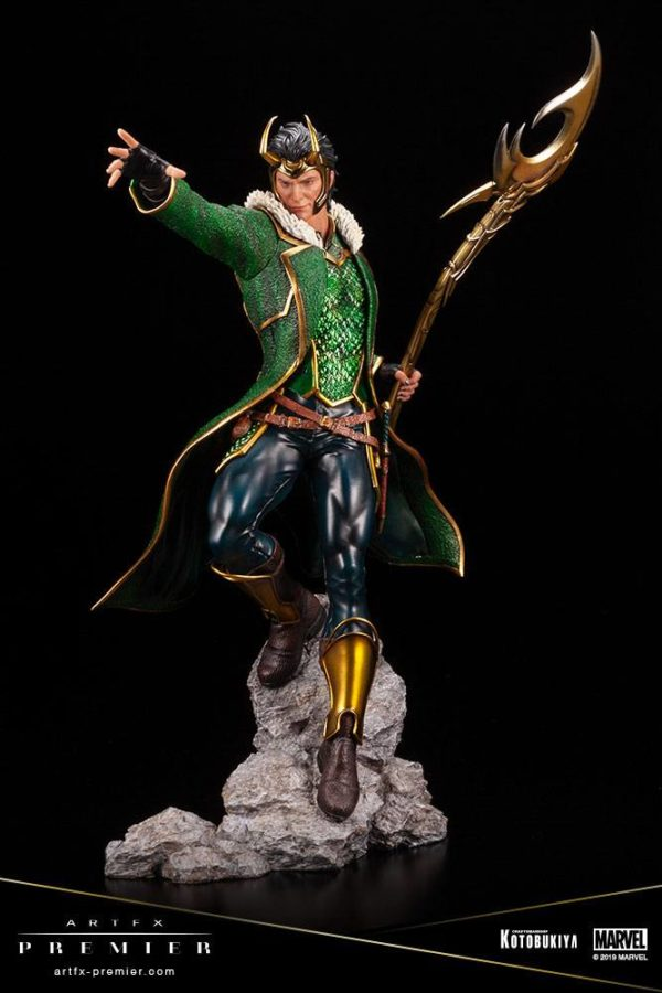 LOKI STATUETTE ARTFX PREMIER 1-10 MARVEL UNIVERSE KOTOBUKIYA 28 CM (10) 4934054013081 kingdom-figurine.fr