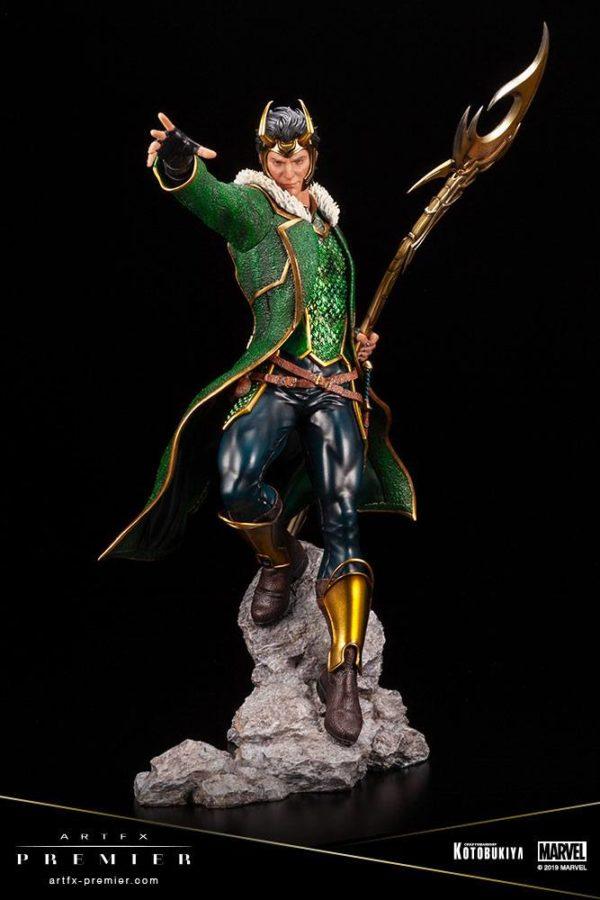 LOKI STATUETTE ARTFX PREMIER 1-10 MARVEL UNIVERSE KOTOBUKIYA 28 CM (4) 4934054013081 kingdom-figurine.fr