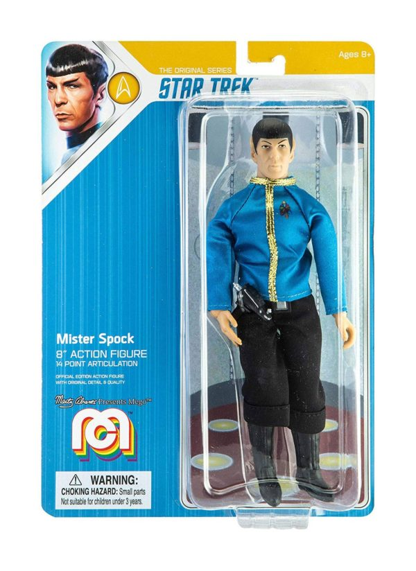 STAR TREK TOS FIGURINE MR. SPOCK DRESS UNIFORM MEGO 20 CM (2) 850002478815 kingdom-figurine.fr