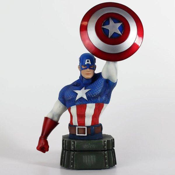 CAPTAIN AMERICA BUSTE MARVEL SEMIC 26 CM (1) 3760226377108 kingdom-figurine.fr