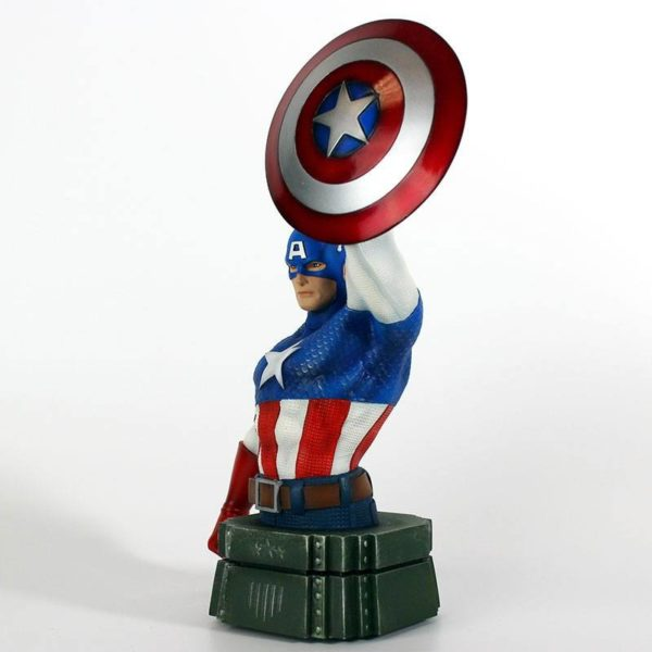 CAPTAIN AMERICA BUSTE MARVEL SEMIC 26 CM (2) 3760226377108 kingdom-figurine.fr