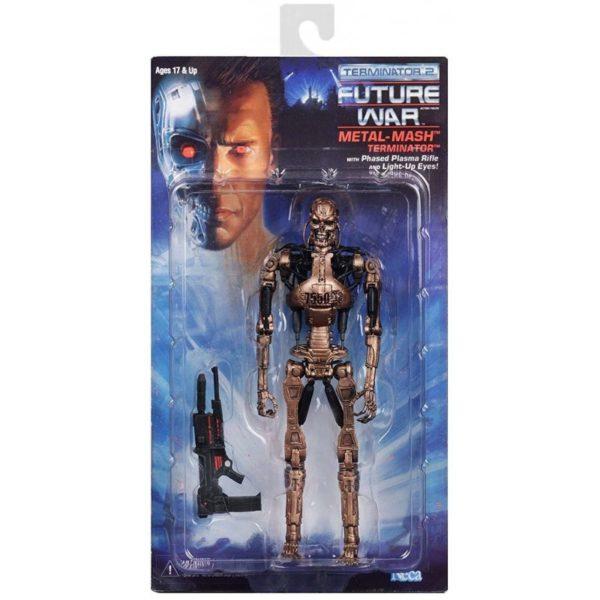 METAL MASH TERMINATOR FIGURINE TERMINATOR 2 KENNER TRIBUTE NECA 18 CM 634482519202 kingdom-figurine.fr