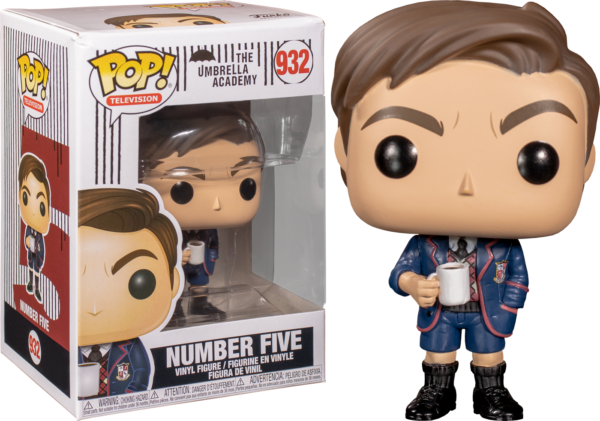NUMBER FIVE FIGURINE THE UMBRELLA ACADEMY POP TV FUNKO 932 (2) 88969844514 kingdom-figurine.fr