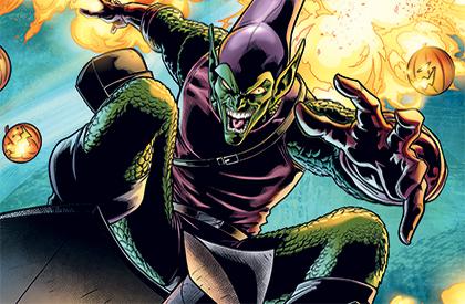Green Goblin a pour arme des citrouilles