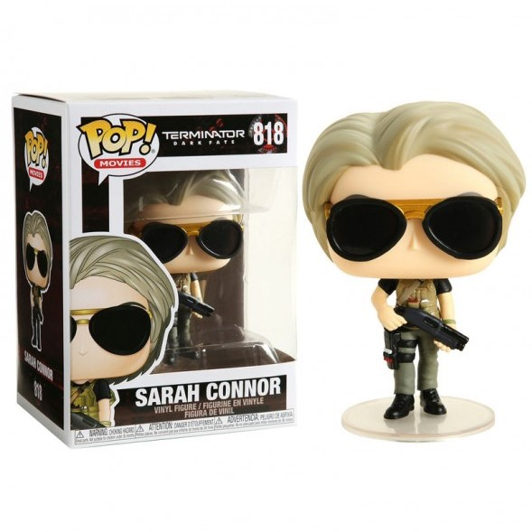 SARAH CONNOR FIGURINE POP MOVIE TERMINATOR DARK FATE FUNKO 818 (1) 889698435024 kingdom-figurine.fr