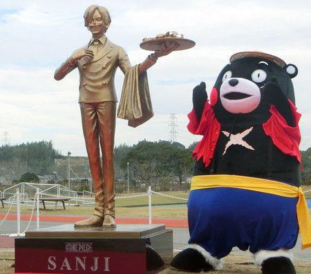 La statue de Sanji de One Piece